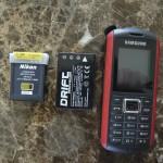 Batteries et téléphone
