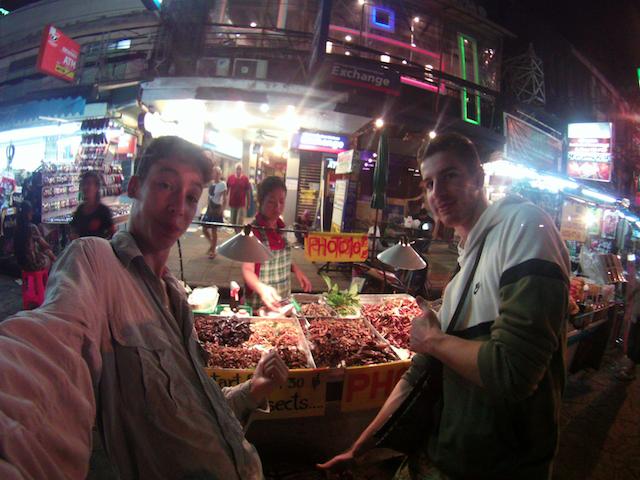 Sauterelles sur Khao San Road