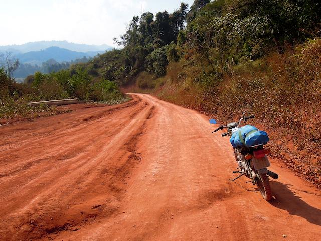 Piste sur le chemin de Phongsali