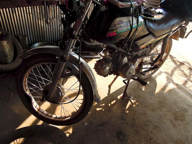 ma moto après l'accident
