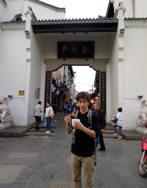 Rue de la bouffe à Wuhan