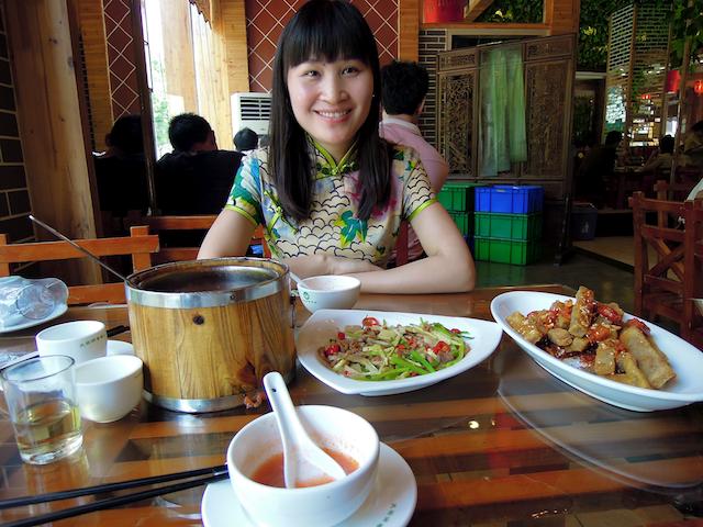 Déjeuner avec une chinoise