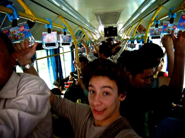 Dans le bus c'est plein