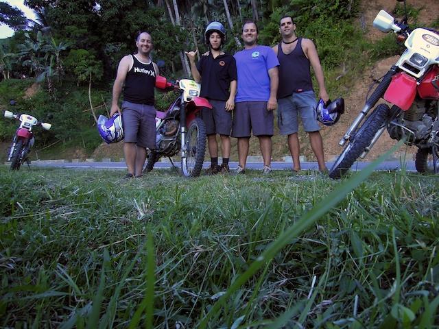 Tour en moto avec Dan, Ian et Blake